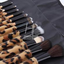 2016 Professional Makeup kits 12 PCs Brush Cosmetic Facial Make Up Set tools With Leopard Bag makeup brush tools hot sales