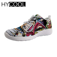 HYCOOL Summer Water Shoes Anime Beyblade Burst Evolution printing Man Gym Shoes Beach Sea Sports Man Sneakers Lace up Aqua Shoes