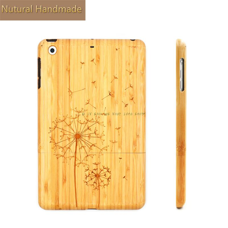 Luxury Bamboo Protective Shell For iPad Mini Case Wooden Shockproof Skin For iPad Mini 1 2 3 Tablet Cases Hard Cover kisscase full protective cases for ipad 2 3 4 back cover wooden tablet case for apple ipad air 1 2 shell for ipad mini 1 2 3 4