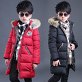 Children Hooded cotton Jackets For Boys Clothing Cotton Big Boy Hooded winter Coats Teens warmOuterwear 4-12 Years Kids Tops