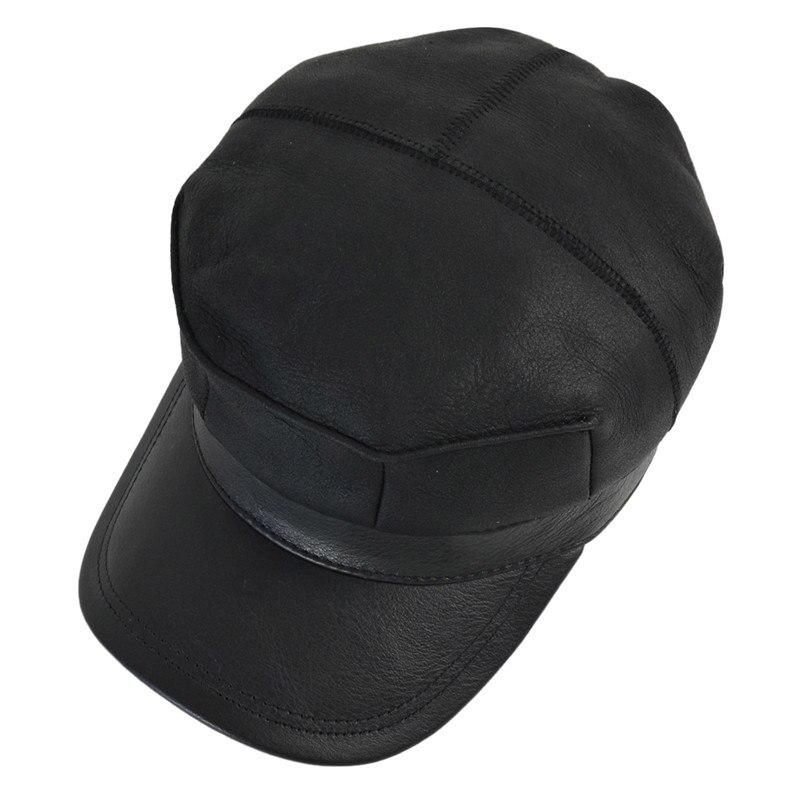 HL7115 real couro boné de beisebol chapéu morno do inverno Russo ... 1d1a0c0fbad