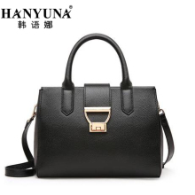 HANYUNA BRAND 2017 New Fashion Cow Leather Women Hobos Casual European Single Shoulder Bags Female Crossbody Bags with Lock