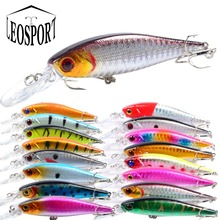LEOSPORT 1PCS 10cm 9.4g Artificial Floating Minnow Lure Tight Shot Fishing Lures Hard Bait Tackle 3D Fish Eyes Hot Sale