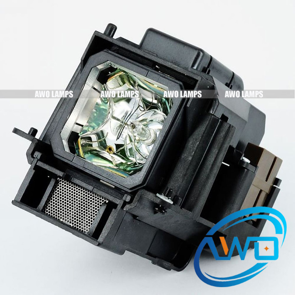 AWO Compatible Projector Lamp VT75LP with Housing for NEC Projectors LT280 LT380 VT470 VT670 VT676 LT375 VT675 free shipping original projector lamp with housing lt30lp 50029555 for nec lt25 lt30 lt25g lt30g projectors