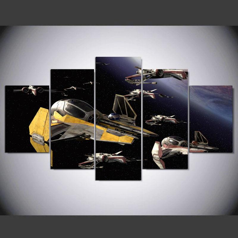 5 Teile/satz Gerahmte HD Gedruckt Star Wars ARC 170 Moderne ...