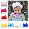 Newborn Bow Knot Cotton Headband Fashion Cute Baby Girls Rabbit Ear Elastic Bandana Headband Headwrap Hair Band Accessories