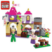 Enlighten Building Block Girls Friends Princess Leah Chanson Bakery 2 Figures 236pcs Educational Bricks Toy For Girl Gifts(China)