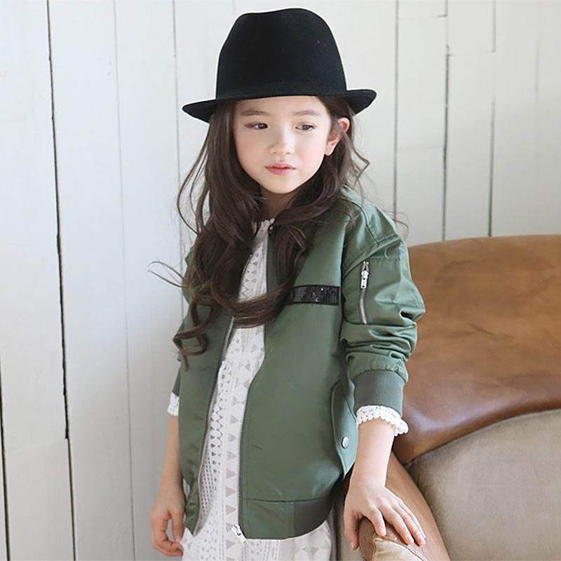 New girls spring cotton jacket children children clothes fall girl long sleeved jacket and coat
