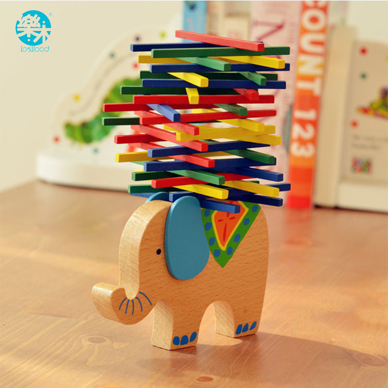 Baby Wooden Toy Educational Elephant/Camel Balancing Blocks Wooden Toys Beech Wood Balance Game Montessori Blocks Gift For Child цена
