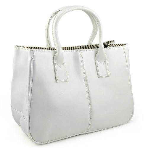 Clase de mujeres PU bolso Del Monedero Del Bolso de Mano Carteras de Cuero-Blanc