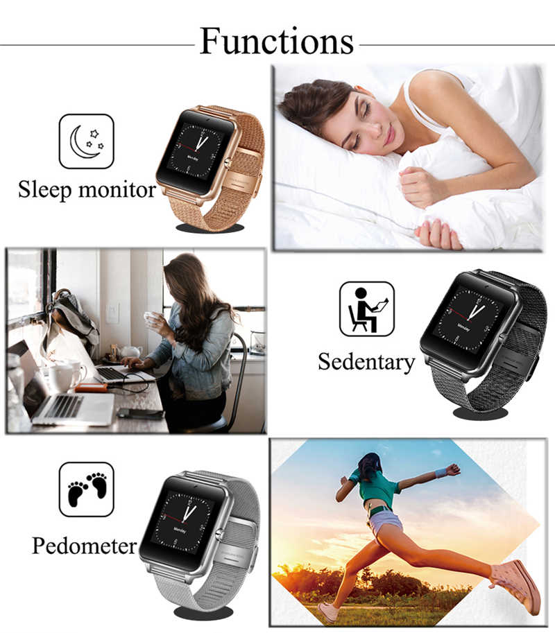 ליגע 2019 חדש חכם שעון דיגיטלי שעון גברים נירוסטה Bluetooth שעון טלפון נייד שיחת SIM TF כרטיס מצלמה עבור אנדרואיד + תיבה