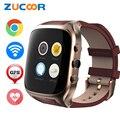Zucoor smart watch x01s 3g telefone smartwatch android 5.1 vida à prova d' água freqüência cardíaca pedômetro gps wifi fm bluetooth mp3 câmera