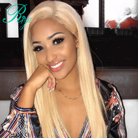 Riya Hair #613 Blonde Wigs Silky Straight Brazilian Human Hair Lace Full Wig 130% Density With Baby Hair Glueless Remy Wig