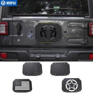Image 1 - Listwy do stylizacji samochodu MOPAI dla Jeep Wrangler JL 20118 tylna klapa samochodu pokrywa wentylatora wydechowego dla Jeep JL Wrangler akcesoria