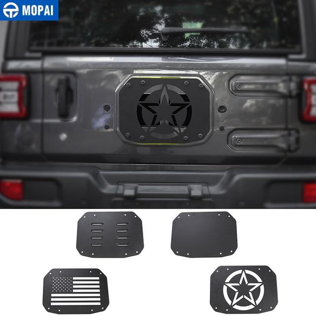 Listwy do stylizacji samochodu MOPAI dla Jeep Wrangler JL 20118 tylna klapa samochodu pokrywa wentylatora wydechowego dla Jeep JL Wrangler akcesoria