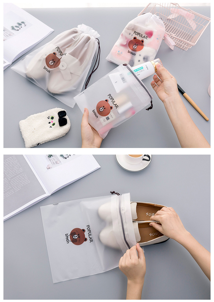 3pcs Bear Transparent Cosmetic Bag Travel Makeup Case Women Make Up Bath Organizer Storage Pouch Toiletry Wash Beaut Kit 21