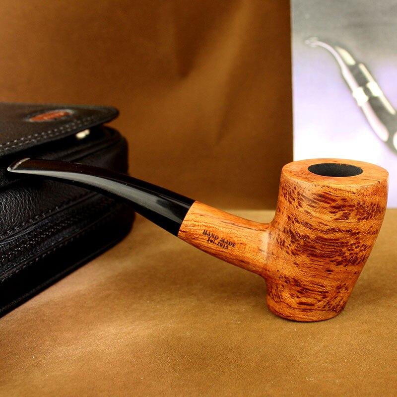 Palissandre Bent Type Marteau Vertical type de Tabac à Pipe En Bois Tabac à Pipe pour Fumer de L'herbe Tuyau