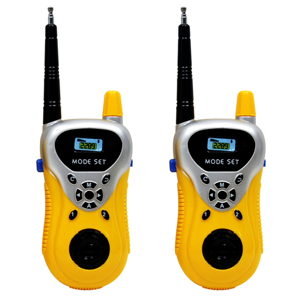 Children's Mini Walkie Talkie Toy 2 Pack Electronic Gadgets Wireless Call Parent-child Interaction Exchange Outdoor Toys 2289