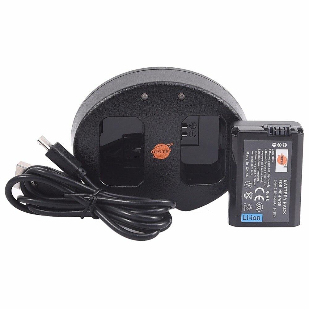 DSTE 4 pcs np-fw50 NP-FW50 Li-ion Batterie + 1 pcs UDC147A Double USB Chargeur pour Sony NEX-3DW NEX-5N NEX-5HB ST-A37 NEX-3KS A7