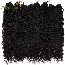Faux Locs Curly Crochet Braids Crochet Goddess Locs Hair Extensions Ombre Kanekalon Braiding Hair Bohemian locks AISI BEAUTY(China)