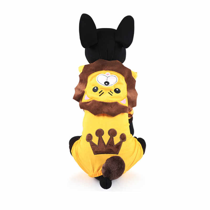 New Fleece Pet Cat Dog Costume, Warm Winter Dogs Lion Cosplay Clothes Hoodie Coat Four Leg Clothing for Small - Big Dogs Pets