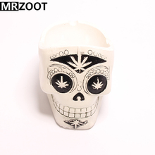 MRZOOT Gothic Punk Skull Ashtry Sculpture Resin Crafts Home or Bars Decoration,Halloween Festival  Party Holiday Gifts