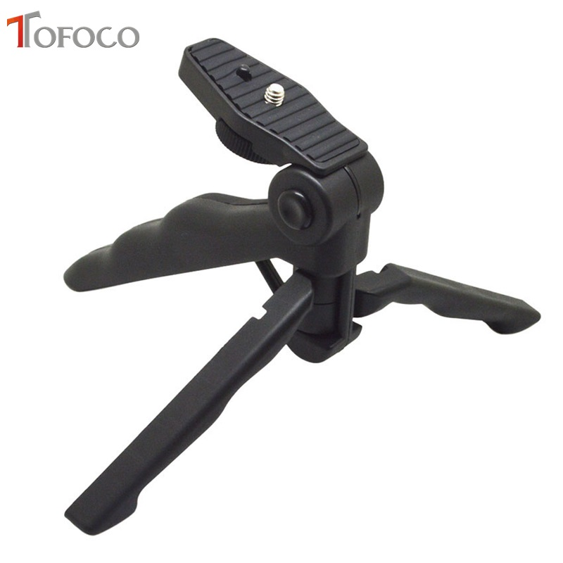 TOFOCO Handle Three way Adjustable Arms Macro font b Tripod b font Desktop Beauty font b