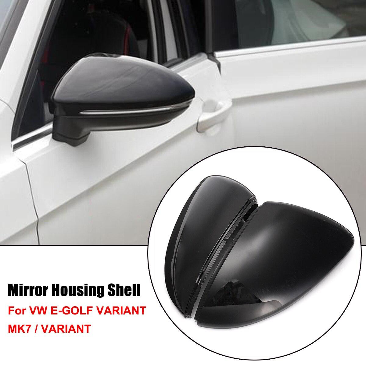 Paar Rückspiegel Abdeckung Seite Flügel Rückspiegel Fall Abdeckungen Für VW Golf MK7 Golf Variante E-Golf L + R