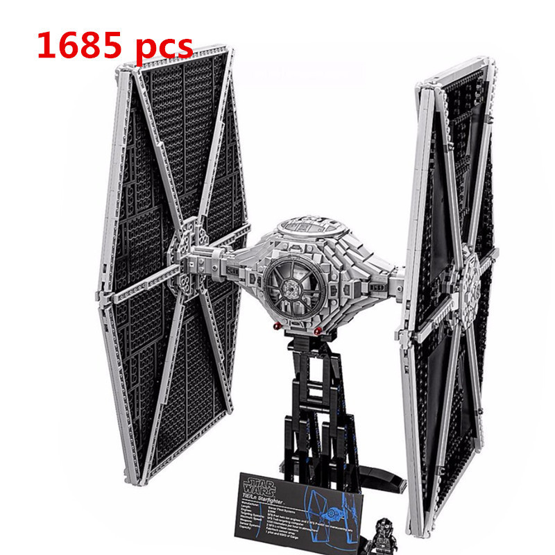 2018 LEPIN 05036 Star Holiday toy Wars 1685pcs TIE Model Fighter Building blocks Bricks Classic Compatible 75095 to Boys Gift new 1685pcs lepin 05036 1685pcs star series tie building fighter educational blocks bricks toys compatible with 75095 wars