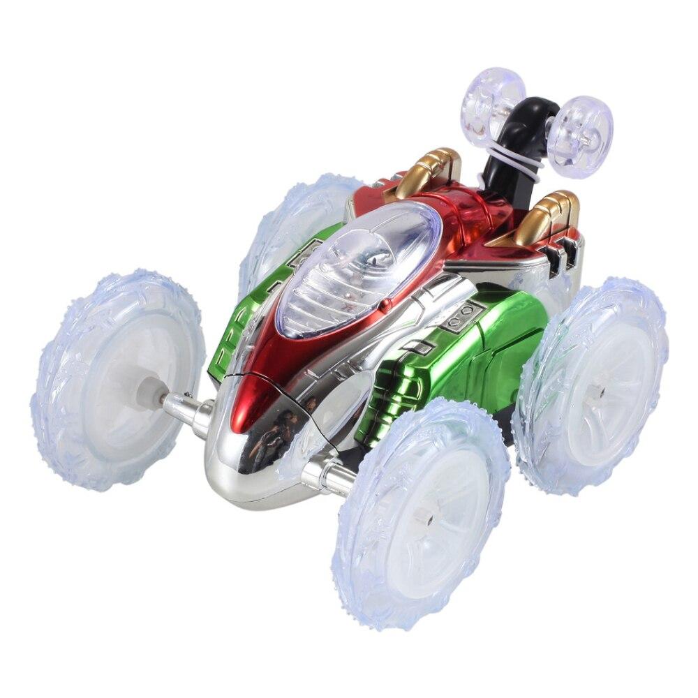 Rc stunt car изысканный twister мигающий автомобиля в стиральной машине светодиодный ABS мигает 360 градусов Роллинг twister игрушечный автомобиль