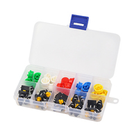 25Pcs Raspberry Pi 3 Tactile Push Button Switch Momentary 12*12*7 mm Micro Switch Button + Cap Hat Tact Cap for Arduino UNO R3