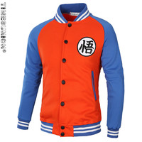 Brand Dragon Ball Z Hoodie Sweatshirt Cosplay Jackets Men Hoodie Goku Kame Symbol Varsity Baseball Jacket