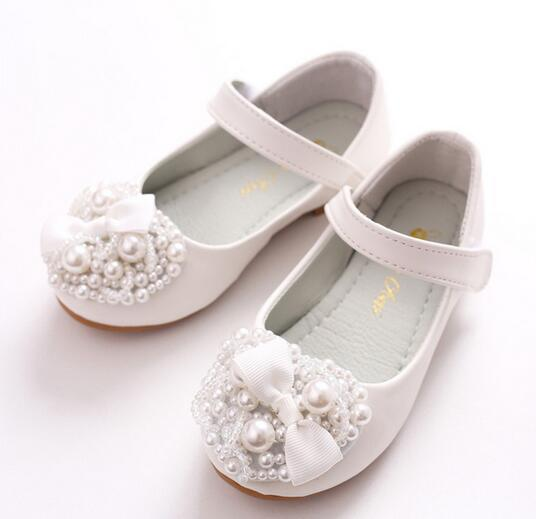 Shoes 2018 new childrens girl princess bow soft sock shoes love flower girl boy shoes white