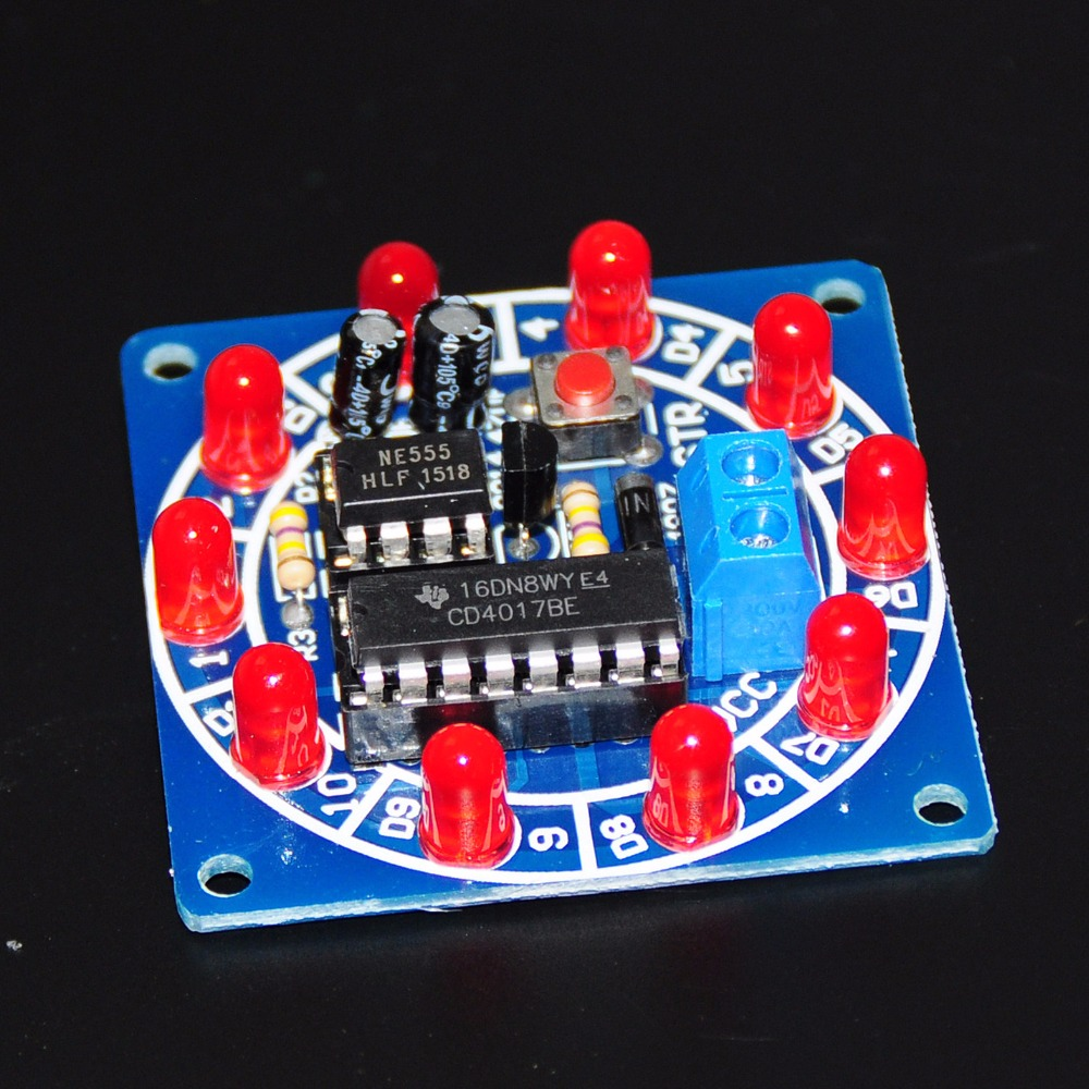 Wheel Of Fortune NE555 CD4017 Electronic DIY Integrated Circuits Bricolaje Electronica Production Lucky Rotary Components 3.5-6V