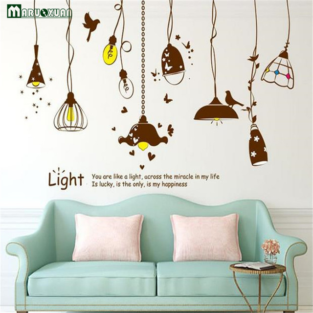 Maruoxuan vintage chandelier pvc vinyl wall stickers removable maruoxuan vintage chandelier pvc vinyl wall stickers removable home decor for children room restaurant decoration wall mozeypictures Gallery