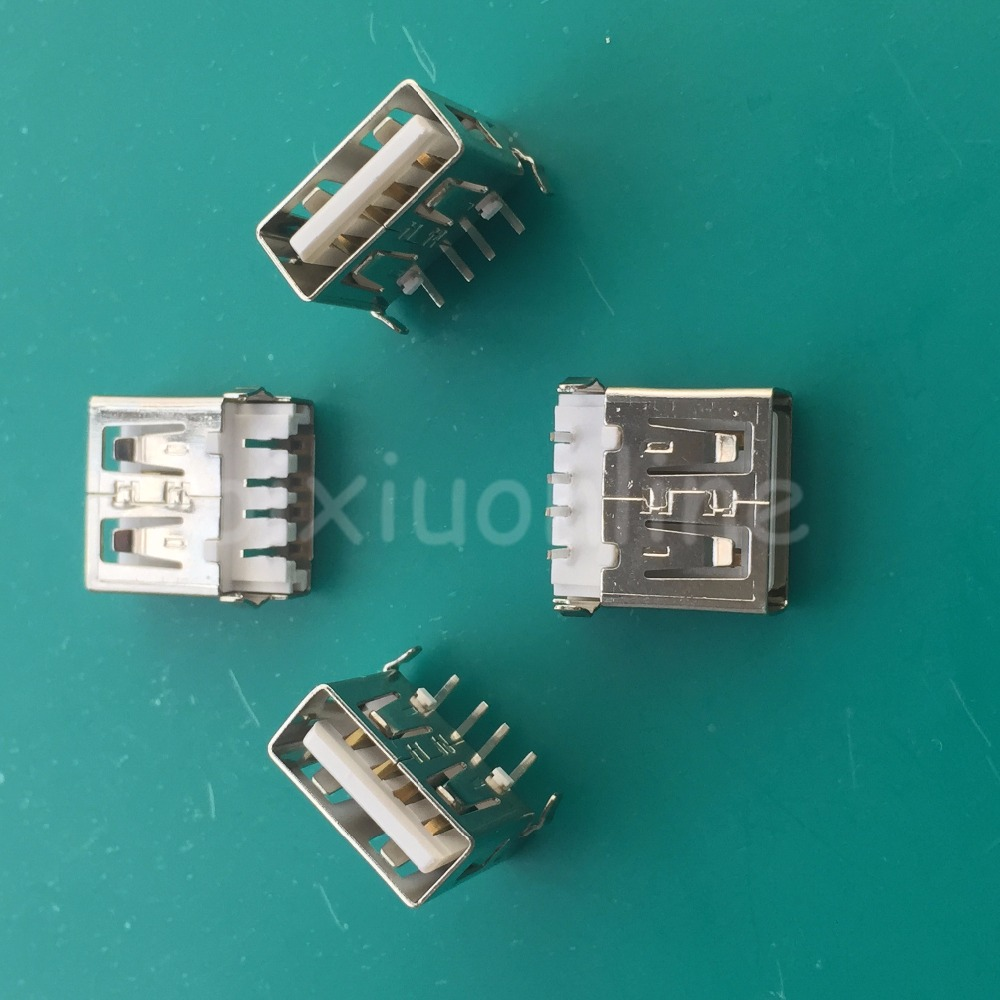 10pcs G52Y USB 2.0 4Pin A Type Female Socket Connector 2feet 90degree for Data Transmission Charging Sell At A Loss On Sale