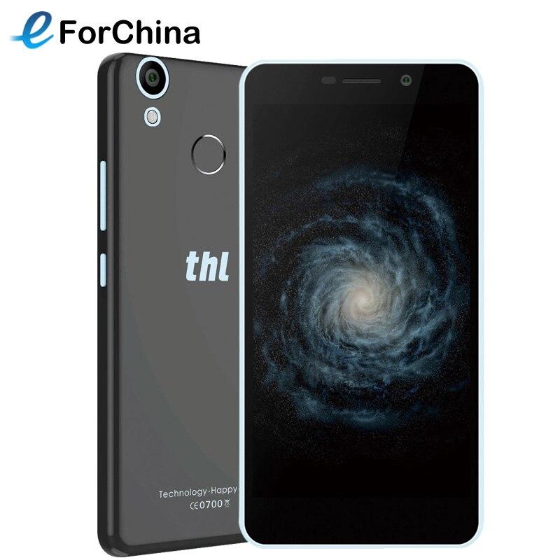 Ursprüngliche THL T9 Pro 5,5 zoll MTK6737 Quad-Core Android 6.0 Handy Fingerabdruck 2 GB RAM 16 GB ROM Smartphone 4G LTE 3000 mAh