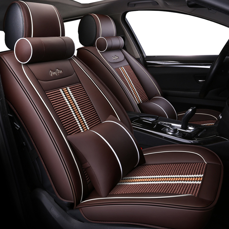 Luxury leather ice silk universal car seat cover for volvo 850 s40 s60 s80 s80l v40