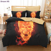 Dream NS 3D Skulls Bedding Set Super King Queen Size Spring Bed Linen Bed Sheet Set