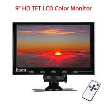 EYOYO 9inch Mini TFT LCD HD VGA 800*480 Color Monitor Display Portable HDMl Video Audio Remote Control For DVD CCTV Camera