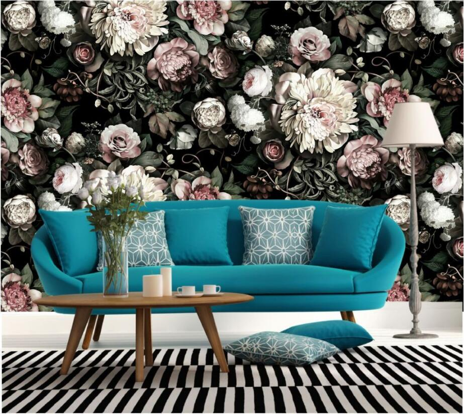 Custom Photo Wallpaper painting 3D white rose Flowers Wall Murals Living Room TV Sofa Backdrop Wall Paper Modern Home Decor Room 3d wallpaper color wood board modern interior simple decor wall painting kid s room living room backdrop wall mural papel tapiz