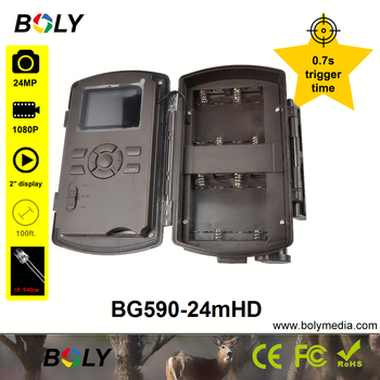 hunting cameras Boly 24MP 0.7S trigger time no glow IR 940nm invisible IR photo traps sounds recording 100 ft trail game cameras 4