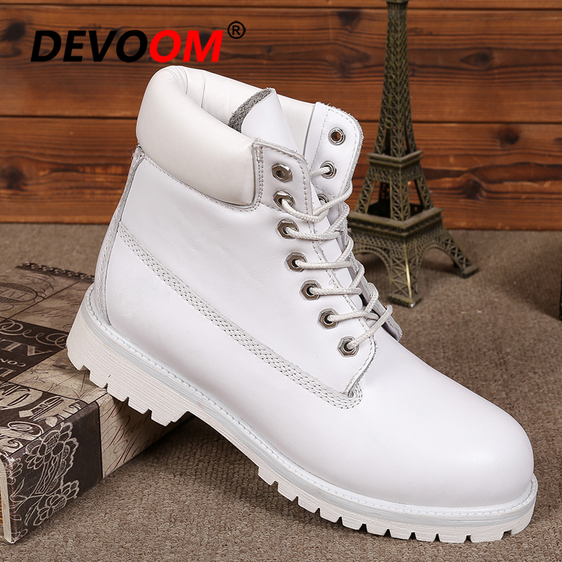 Fashion Womens White Boots Sneakers
