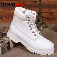 Mode femmes blanc Bottes Sneakers en cuir véritable Bottes femmes plate-forme neige Bottes cheville 2018 fourrure hiver chaussures grande taille Bottes