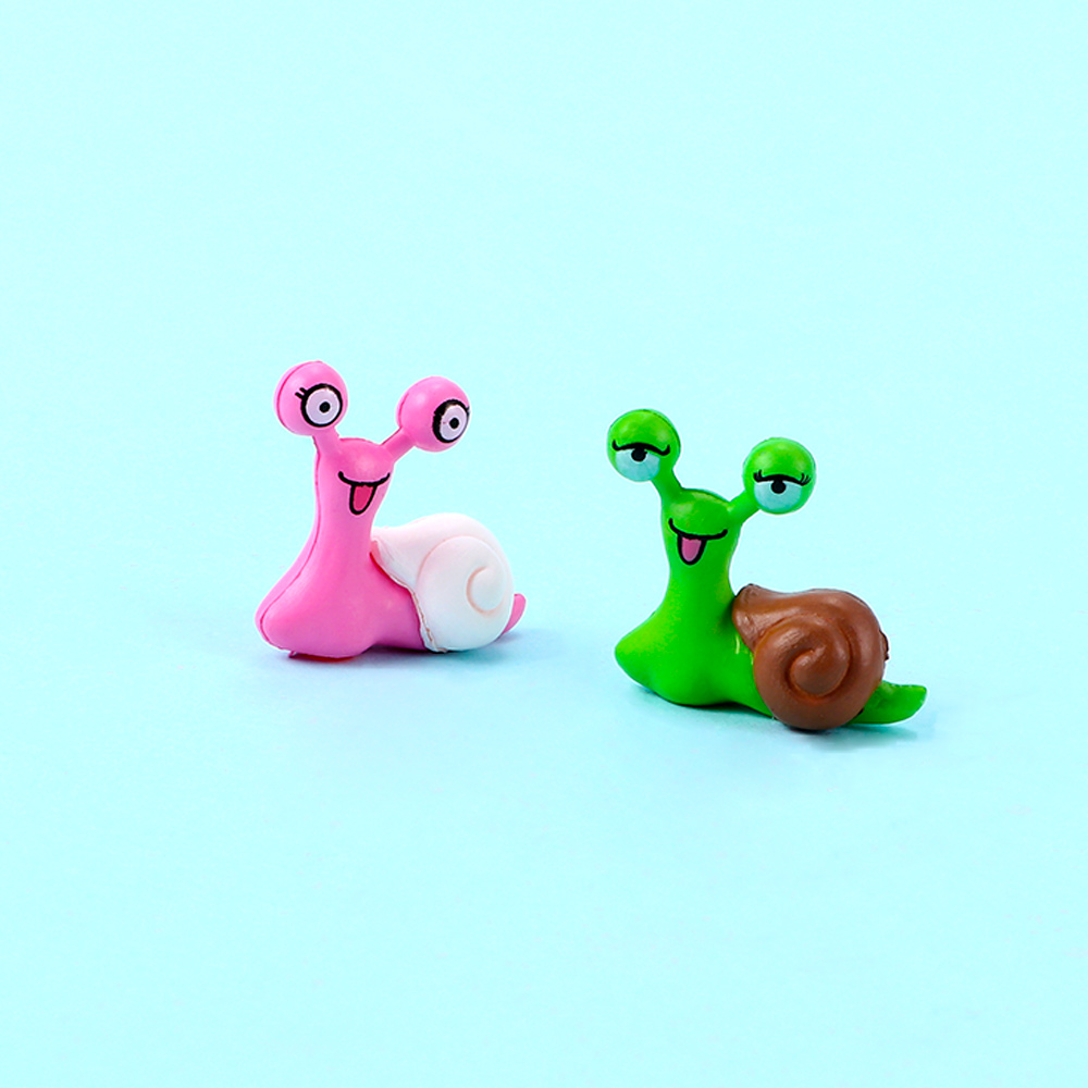 2pcs/set Fairy Garden Kids Toys Mini Snails Micro Accessories Ornaments Figurine Practical Jokes Toy