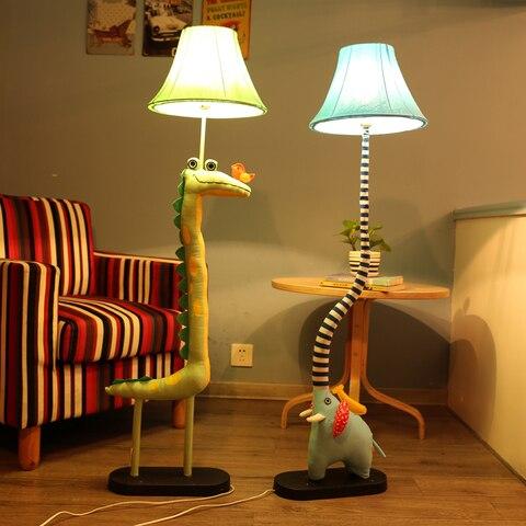 criancas em pe lampadas para sala de estar decoracao iluminacao pano artesanal animal crocodilo passaro