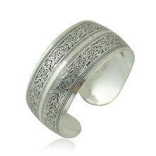 JShine Bohemian Jewelry Vintage Woman Bracelet and Bangles Antique Silver Color Women Bracelets Bangles Ethnic Wide Cuff Bangle