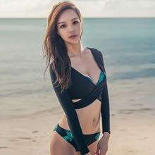Rhyme Lady 2017 hot selling women three pieces long sleeve bathing suits swimwear swimsuit Rash Guards