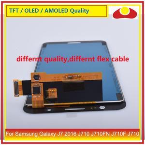 Image 5 - 50 ชิ้น/ล็อตสำหรับ Samsung Galaxy J7 2016 J710 J710FN J710F J710 จอ lcd หน้าจอแผง Digitizer Pantalla ที่สมบูรณ์แบบ
