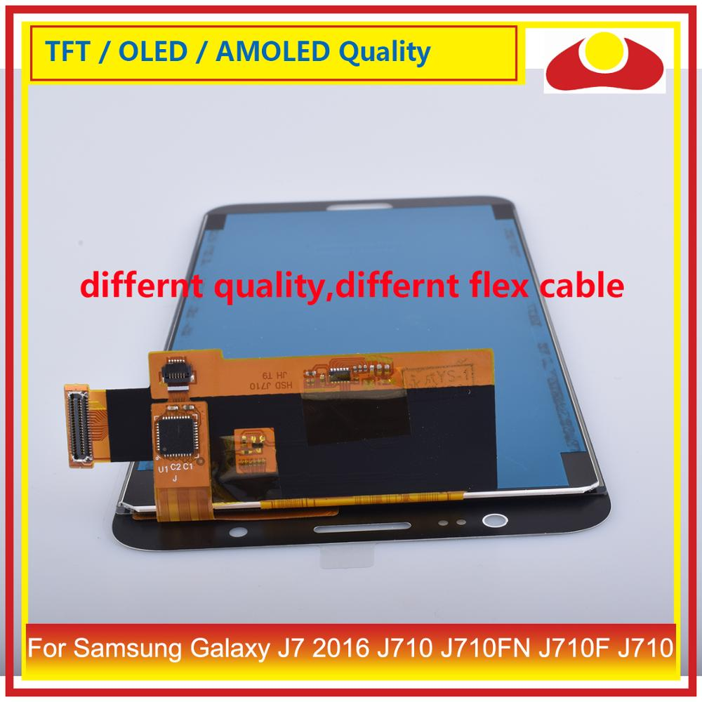 Image 5 - 50Pcs/lot For Samsung Galaxy J7 2016 J710 J710FN J710F J710 LCD Display With Touch Screen Digitizer Panel Pantalla Complete-in Mobile Phone LCD Screens from Cellphones & Telecommunications